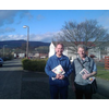 John Barnett, Candidate for Dundee West, with Craig Duncan of Dundee LibDems in Brackens