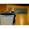 Liberal Democrat Parliamentary Candidate (Dundee East) Dr Clive Sneddon addresses Scottish Liberal Democrat Spring Conference 2003