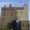 Liberal Democrat Parliamentary Candidate Dr Clive Sneddon at Broughty Ferry Castle during 2003 parliamentary campaign