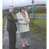 Campaign 2005 : Dundee West candidate Nykoma Garry and Cllr Fraser Macpherson visit Riverside Drive, where West End residents have expressed concerns about traffic speed and road safety