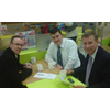 Cllr Fraser Macpherson, Chris Hall (Lochee Ward LibDems) and Nicol Stephen MSP (Scottish LibDem Leader)
