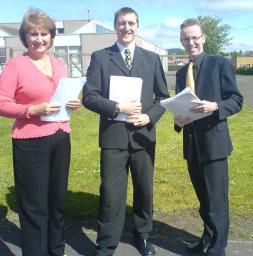 Michael Charlton campaigning in Dundee West with Dundee's two LibDem councillors