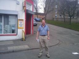 John Barnett campaigning in Dundee West