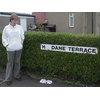 Helen Dick, LibDem councillor for Strathmartine Ward, pictured during her campaign to have local damaged street signs repaired and replaced.
