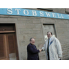 Liberal Democrat Parliamentary Candidate (Dundee East ) Dr Clive Sneddon meets Stobswell Ward council candidate Raymond Lawrie during campaigning in the Dura Street area - 2003 campaign